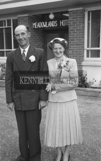 June 1957; A photo taken at the Buckley/Casey wedding reception in the Meadowlands Hotel, Tralee.