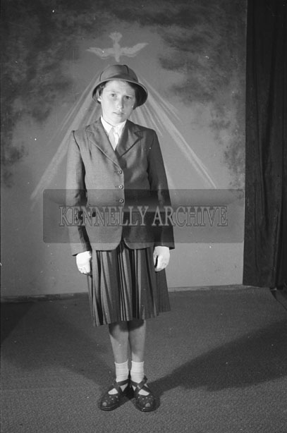 June 1957; A studio confirmation photo of Miss O'Rourke.
