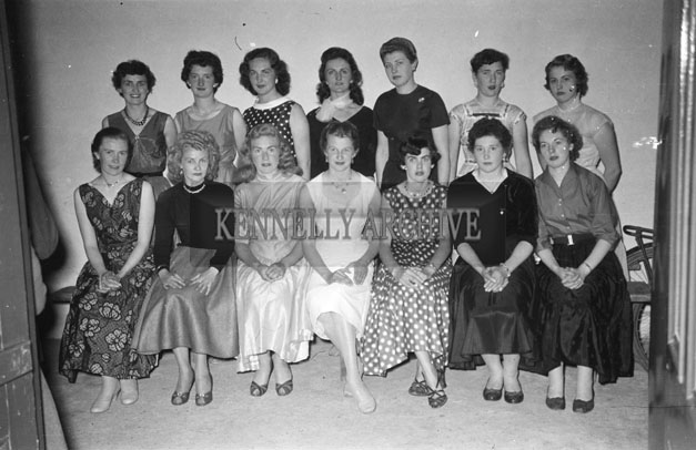 June 1957; The finalists in a beauty contest in Glenbeigh.