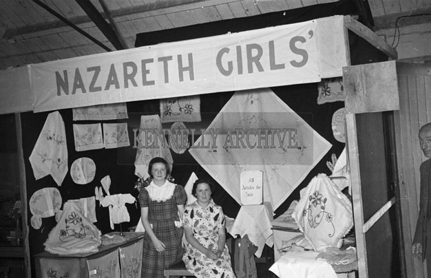 19th June 1957; The Nazareth Girls School Stand in the Tralee Trade Fair in the Kingdom County Fair, Ballymullen, Tralee.