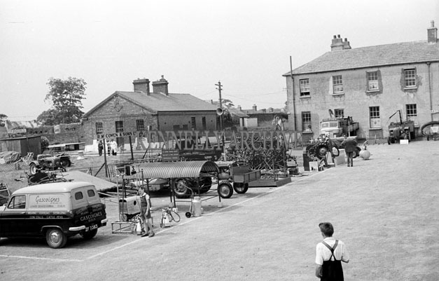 19th June 1957; Farm Machinery on display at the Trade Show in the Kindom County Fair Ballymullen, Tralee.