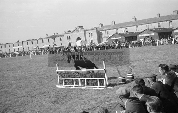 19th June 1957; A photo of the showjumping event in the Kindom County Fair Ballymullen, Tralee.