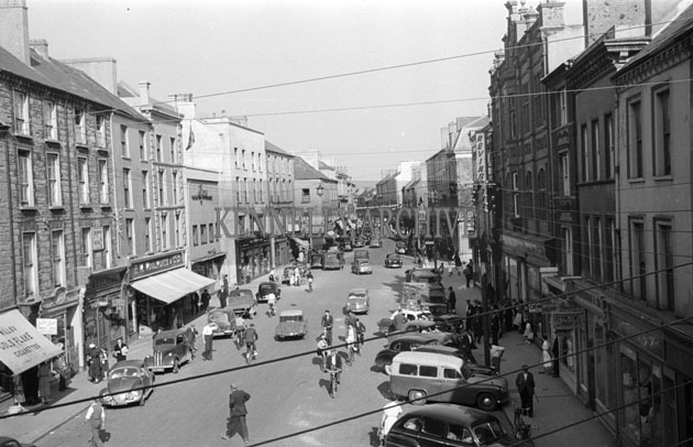 June 1957; A photo of The Mall, Tralee.