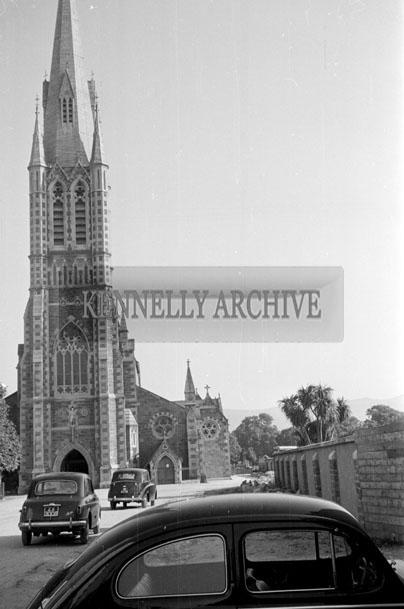 June 1957; A photo of St. John's Church, Tralee.