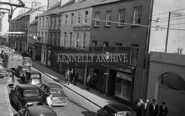 June 1957; A photo of Castle Street, Tralee.