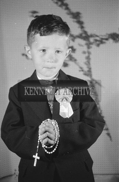 June 1957; A studio Communion photo of Thomas O'Connor.