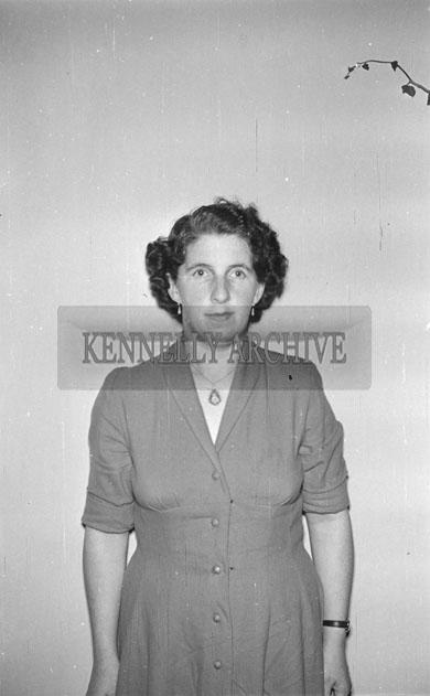 June 1957; A studio photo of Mrs. Bourke, Dingle.