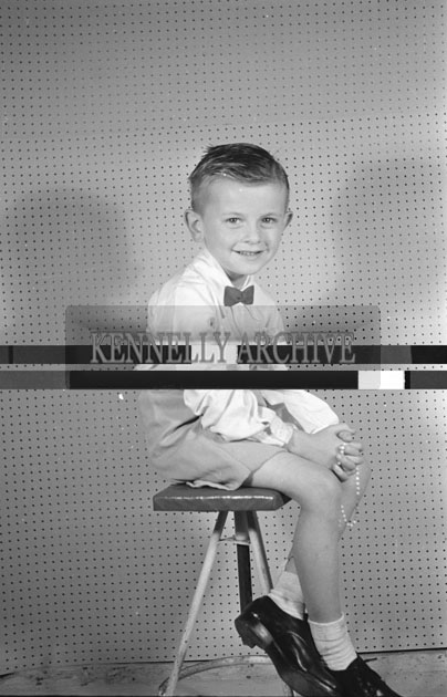 June 1957; A studio photo of the King boy, Ashe Street, Tralee.