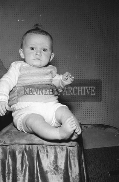 June 1957; A photo of the O'Mahoney baby, Abbeydorney.