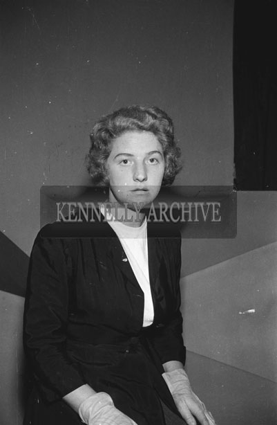 June 1957; A studio photo of a woman.