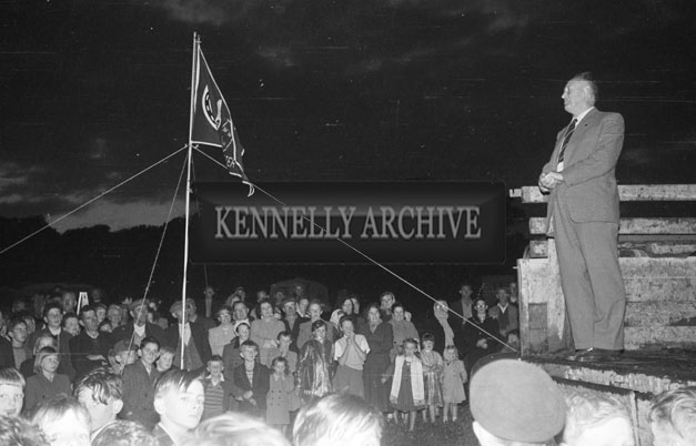 July 1957; A photo taken at the Munster Caravan Rally in Ballyheigue.
