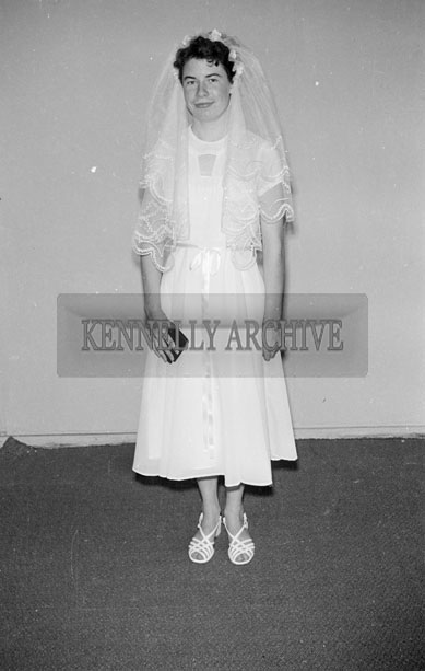 July 1957; A studio photo of Thelma Fitzell.