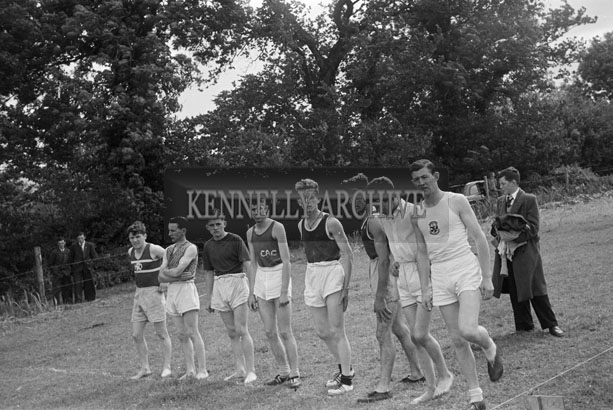 July 1957; A photo taken at a sports day.