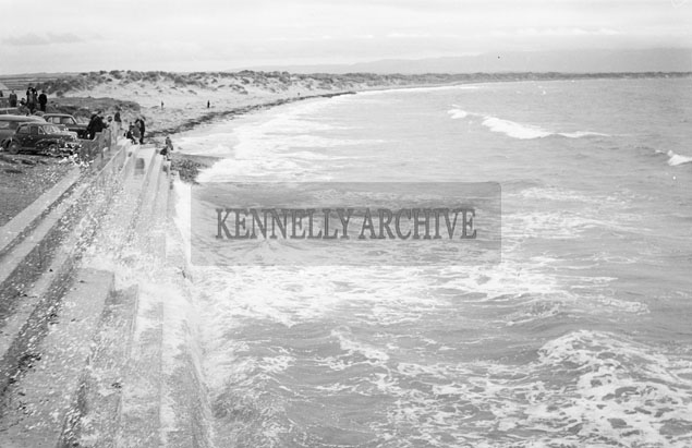 July 1957; A photo of the seafront in Ballyheigue.