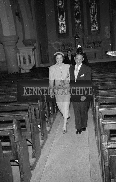 August 1957; A photo taken of a wedding in St Brendan's Church, Ardfert.