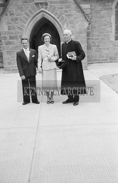 August 1957; A photo taken of a wedding in St Brendan's Church, Ardfert.
