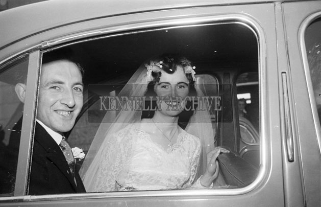 August 1957; A photo taken at the wedding of Mena Deane to publican Joe Sullivan, Ardfert, in St. Mary's Church, Castlegregory.