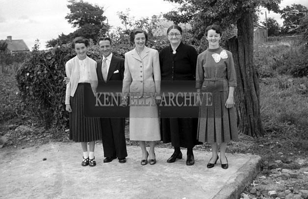 July 1957; A photo of a wedding in St Brendan's Church, Ardfert.