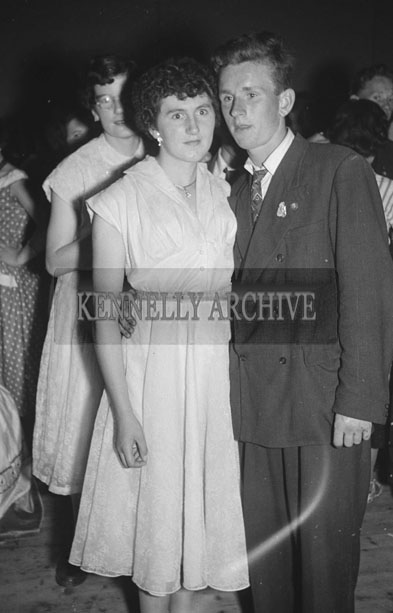 4th August 1957; A photo of people enjoying themselves at the Queen of the Races Dance in Glenbeigh.