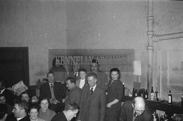 August 1957; People enjoying themselves at a graduation dinner dance.