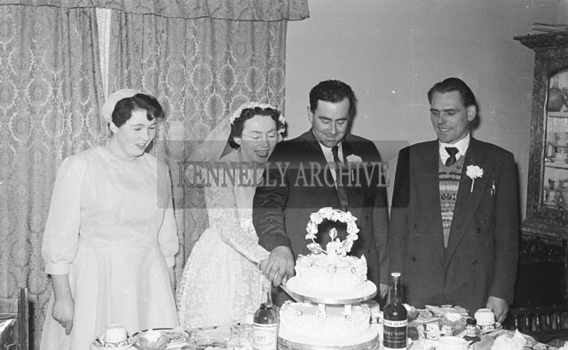 January 1957; A photo taken at a wedding.
