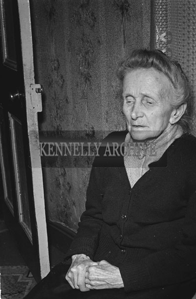 February 1957; A photo of a member of the O'Sullivan family, Aughasla, Castlegregory.