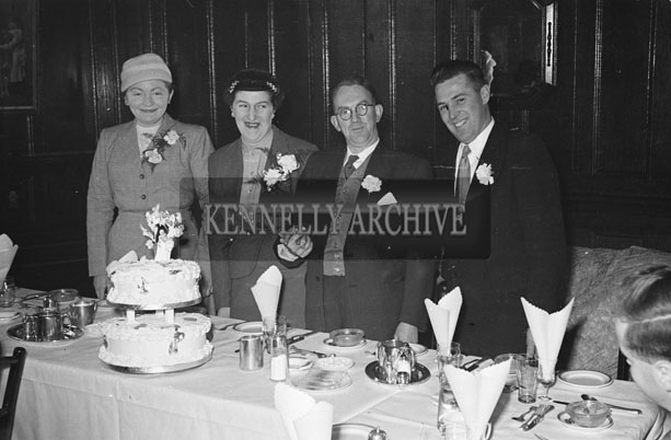 February 1957; A photo of a wedding Reception in the Grand Hotel, Tralee.