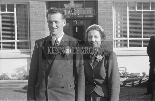 February 1957; A photo of the McCarthy wedding in Meadowlands Hotel Tralee.