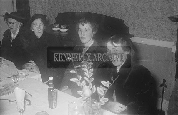 February 1957; A photo of a wedding in The Meadowlands Hotel, Tralee.