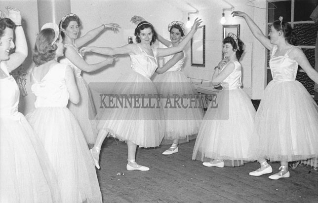 February 1957; A photo of Tralee Light Opera Society rehearsing for the pantomime 'The Count of Luxembourg'.