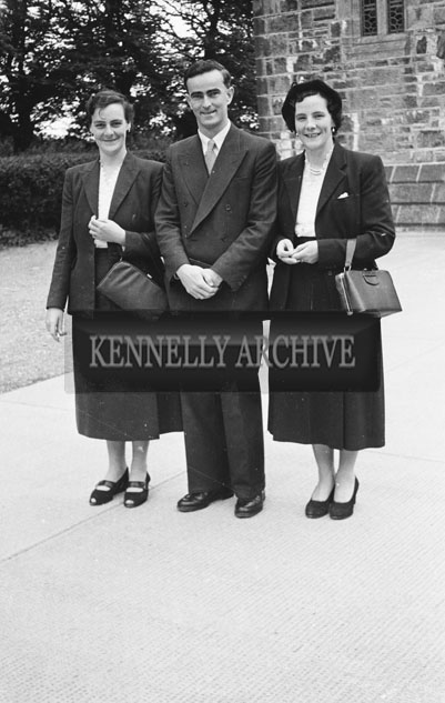 August 1957; A photo taken at a wedding in St. Brendan's Church, Ardfert.