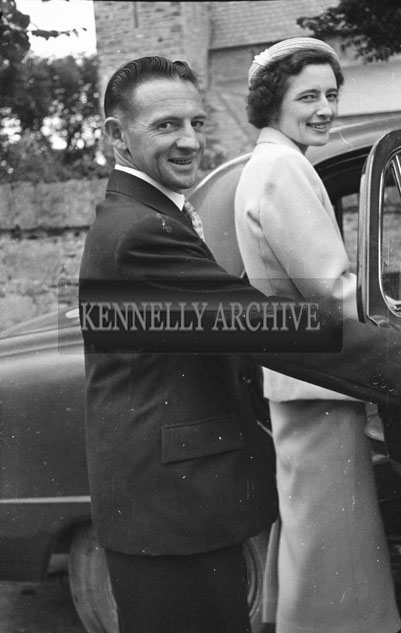 August 1957; A photo taken at a wedding in St. Brendan's Church, Ardfert.
