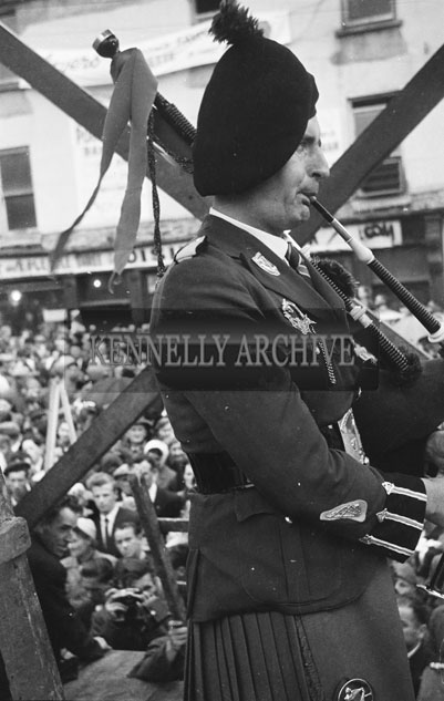 8-11th August 1957; A photo taken at the Crowning of the Puck Goat, Puck Fair, Killorglin.