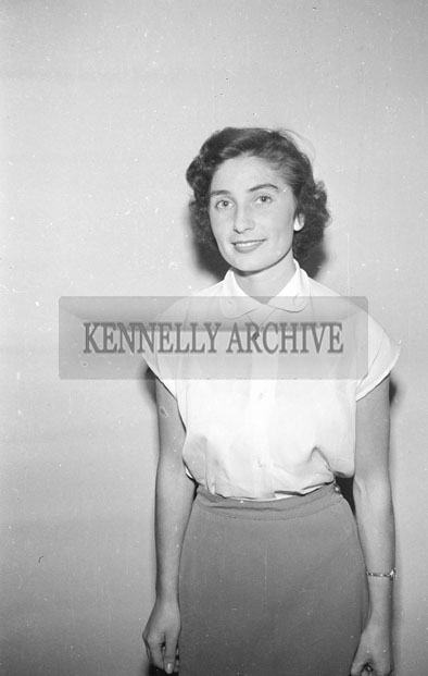 August 1957; A studio photo of Mrs. O'Flaherty.