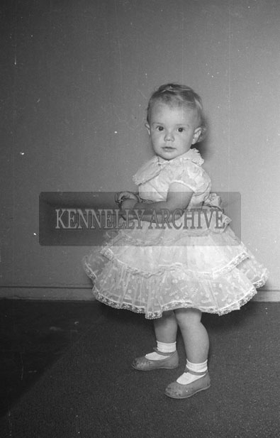 August 1957; A studio photo of Baby Barry.