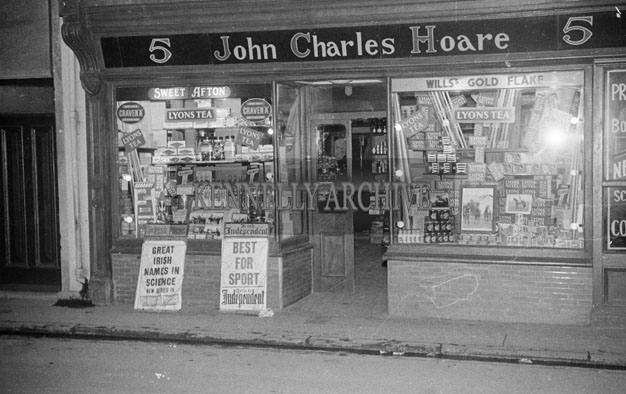 2-4th September 1957; The winner of the Tralee Carnival Shop Window Display Competition, John Charles Hoare's shop in Moyderwell, Tralee.