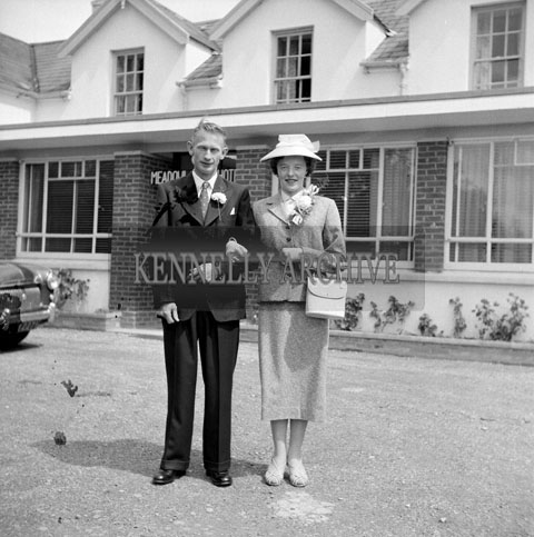 June 1957; A photo of a wedding in the Meadowlands Hotel, Tralee.