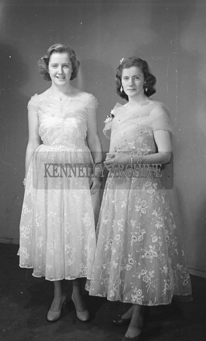 February 1957; A studio photo of the Long sisters.