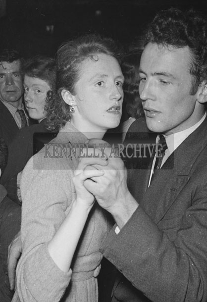 February 1957; A photo taken at a dance in Ballymacelligott.