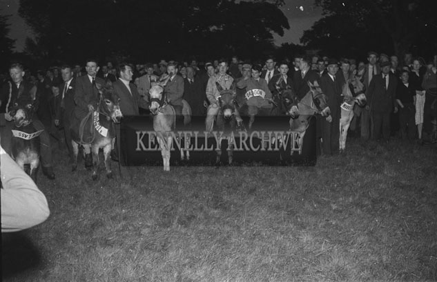 2-4th September 1957; The Tralee Carnival Donkey Derby in the Mall, Tralee.