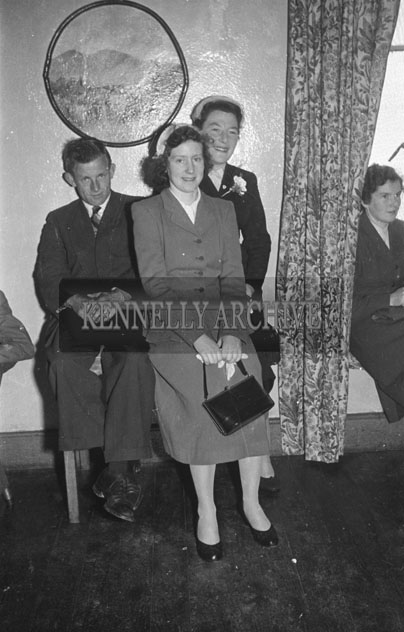 September 1957; A photo taken at a wedding reception in the Meadowlands Hotel, Tralee.