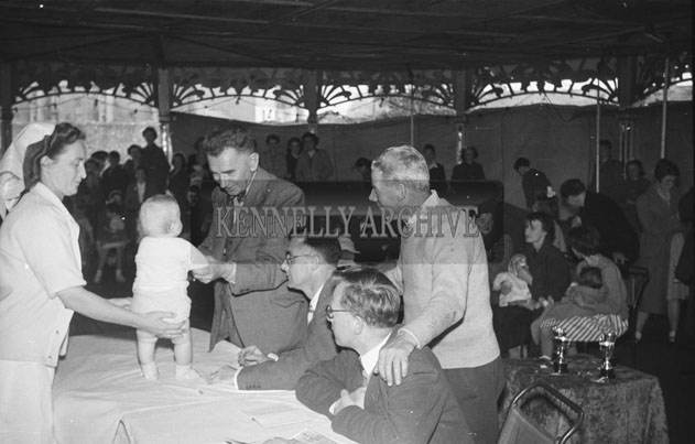 4th September 1957; A photo taken at the Tralee Carnival Baby Show.