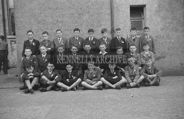 15th September 1957; A group photo taken on Confirmation Day at Strand Street School.