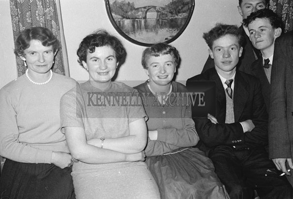 February 1957; A photo taken at the Wedding reception of Frances Hartnett and Maurice Galvin in The Meadowlands Hotel, Tralee. The couple were married in Lixnaw Church by Fr. O'Keefe, assisted by Fr. J.J. Scanlon.