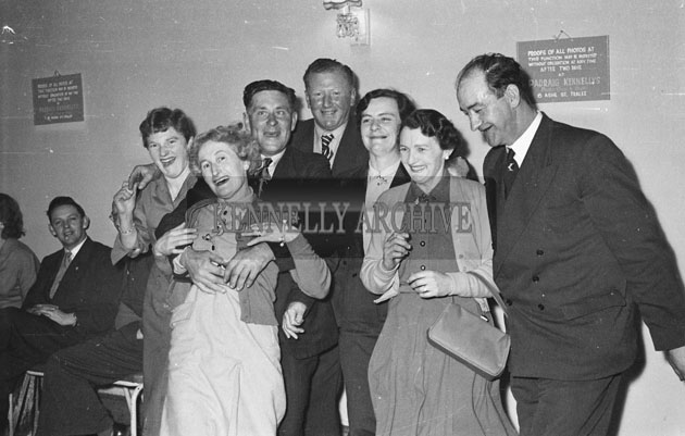 1st March 1955; A photo taken at the Ardfert Ploughing Social in The Meadowlands Hotel, Tralee.