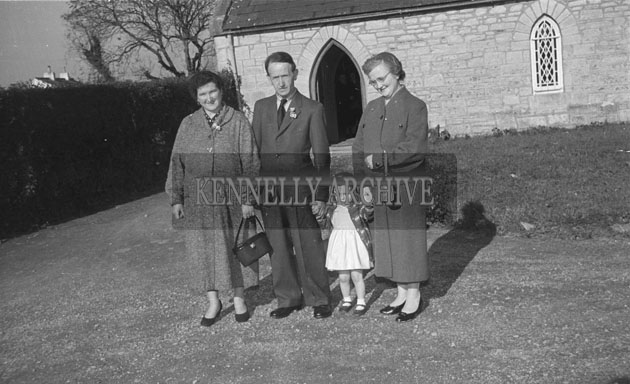 September 1957; A photo taken at the Reidy Wedding in the Church of the Immaculate Conception, Rathass, Tralee.