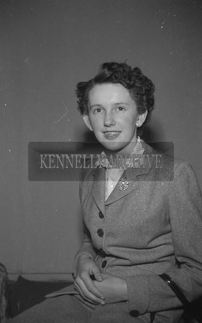 September 1957; A studio photo of Ms. Griffin, Annascaul.