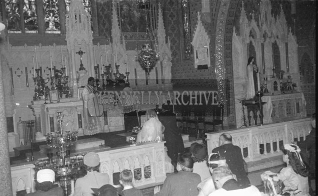 September 1957; A photo taken at a wedding in St Mary's Church, Listowel.