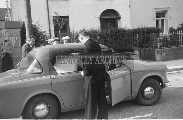 September 1957; A photo taken at a wedding reception in  the Listowel Arms Hotel.