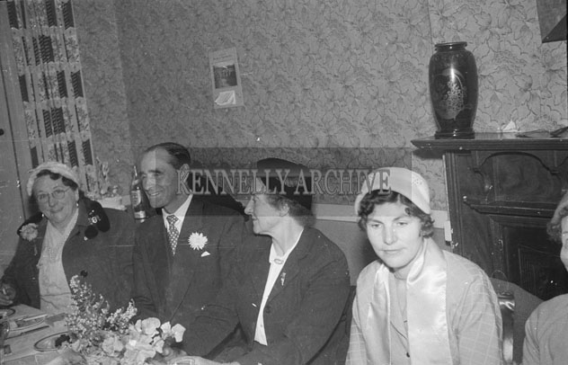 September 1957; A photo taken at a wedding reception in Meadowlands Hotel, Tralee.